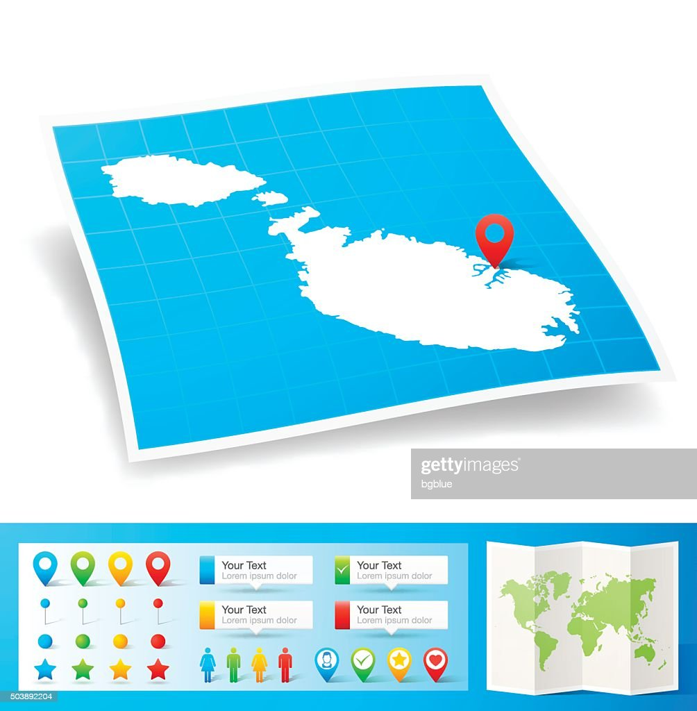 Marshall Islands Map With Location Pins Isolated On White Background ...