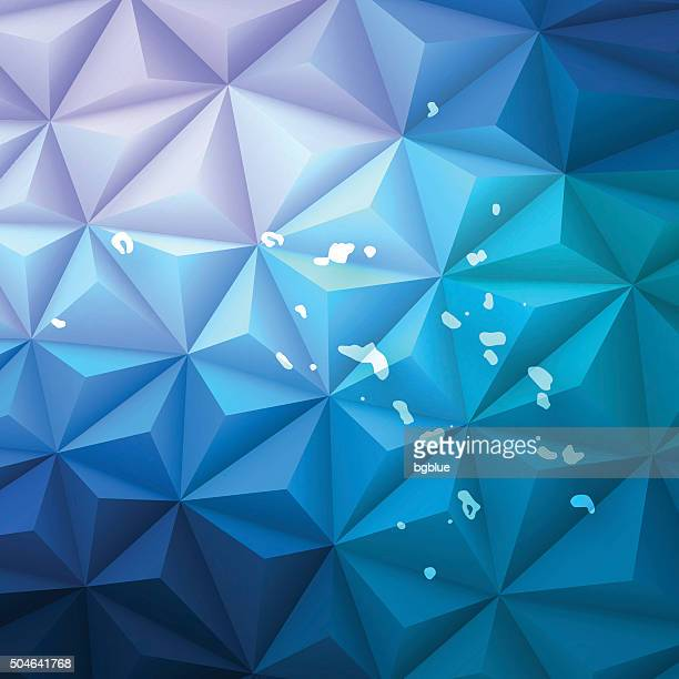 Marshall Islands on Abstract Polygonal Background - Low Poly, Geometric