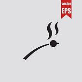 Marshmallow icon.Vector illustration.