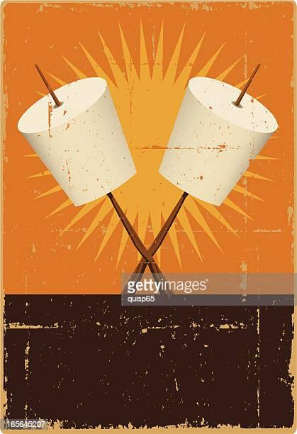 Marshmallow Roasting Sign