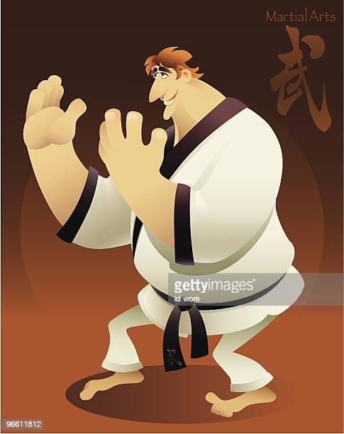 ilustrações de stock, clip art, desenhos animados e ícones de artista marcial - judo
