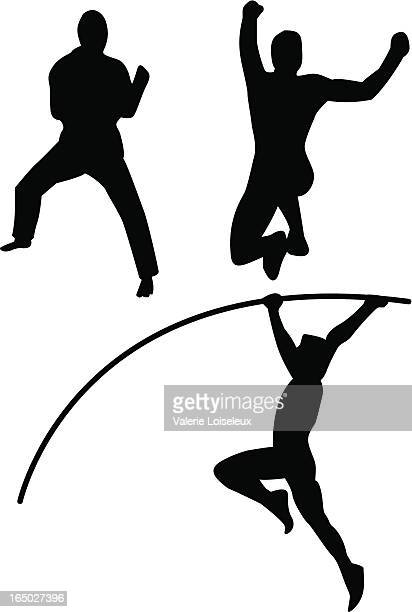 martial arts and athletics - racewalking stock illustrations, clip art, cartoons, & icons