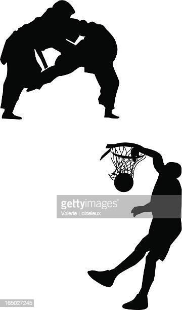 武術とバスケットボール