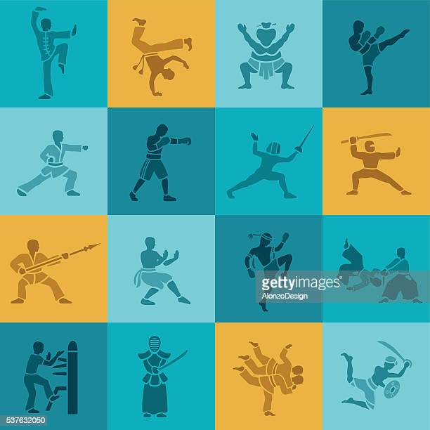 Conjunto de iconos de artes marciales