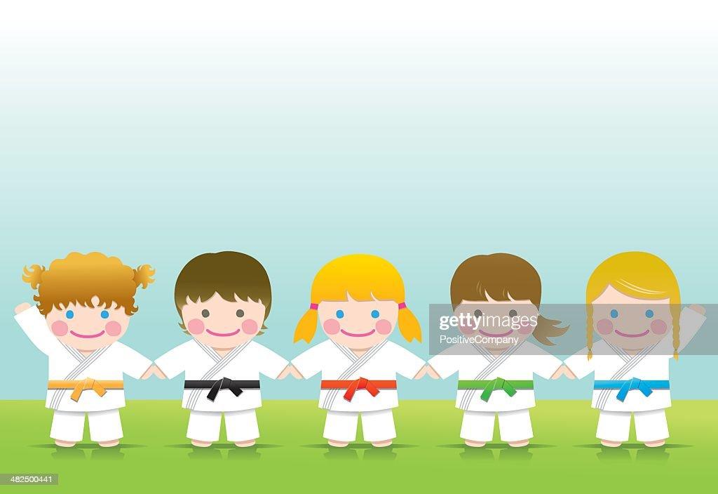 Martial arts: Judo Girls Blond Brown