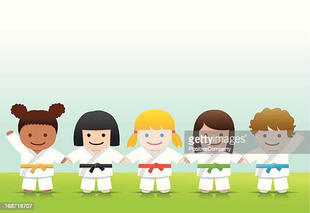 武術:空手女子柔道 - mixed martial arts点のイラスト素材/クリップアート素材/マンガ素材/アイコン素材