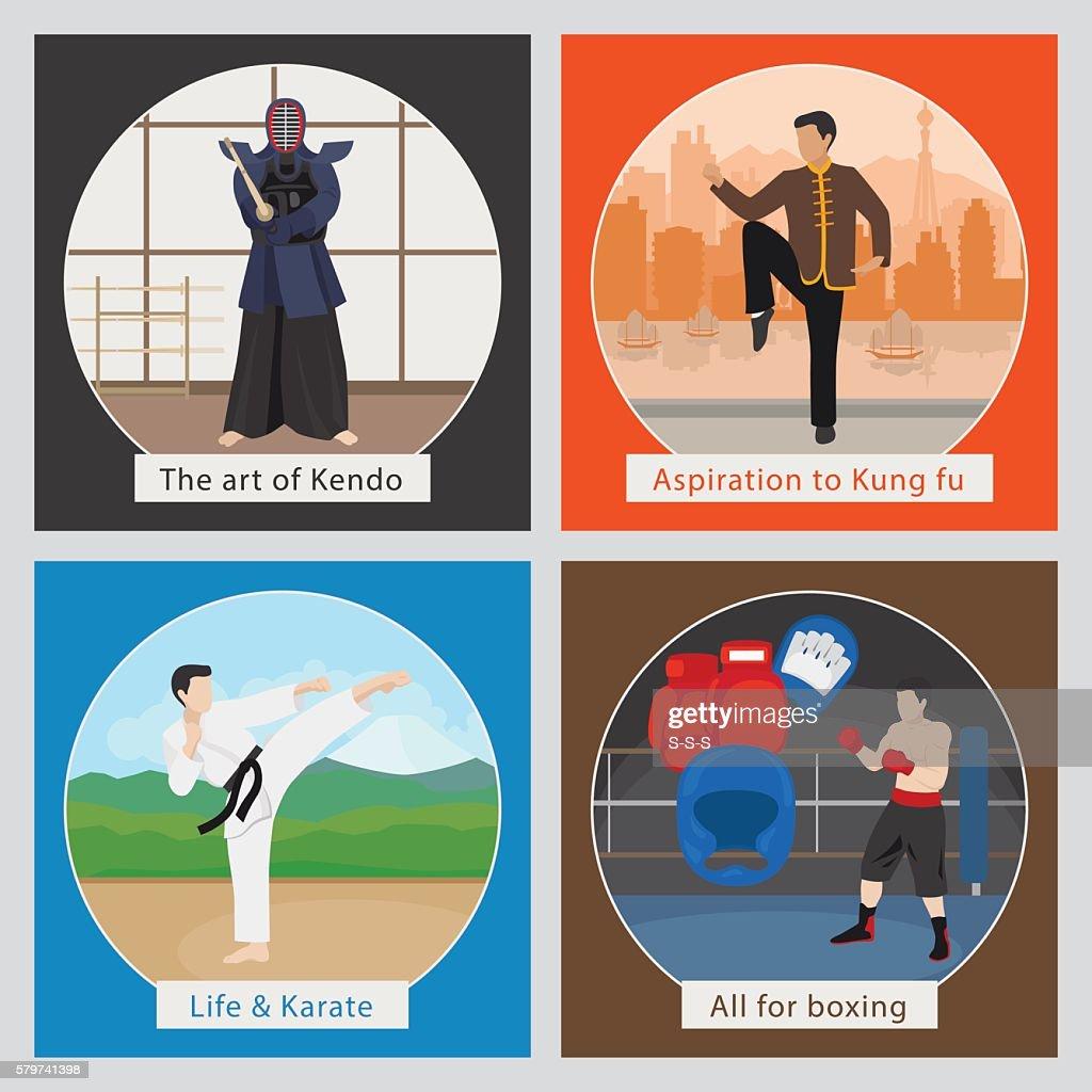 Martial arts vector illustration