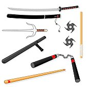 Martial Arts Weapon Icons