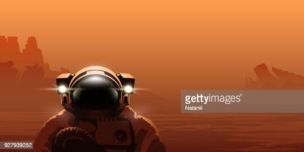 ilustrações de stock, clip art, desenhos animados e ícones de martian colonist - astronauta