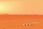 Martian Colony Landscape