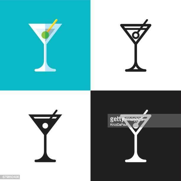 martini cocktail - drink stock illustrations