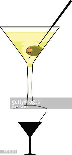 Martini Glass in Colour & B&W