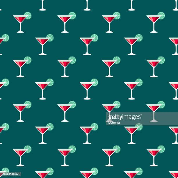Martini Seamless Pattern