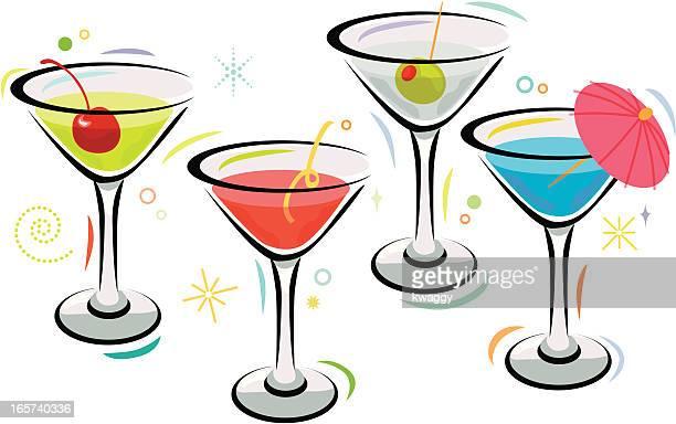 martini time - martini stock illustrations