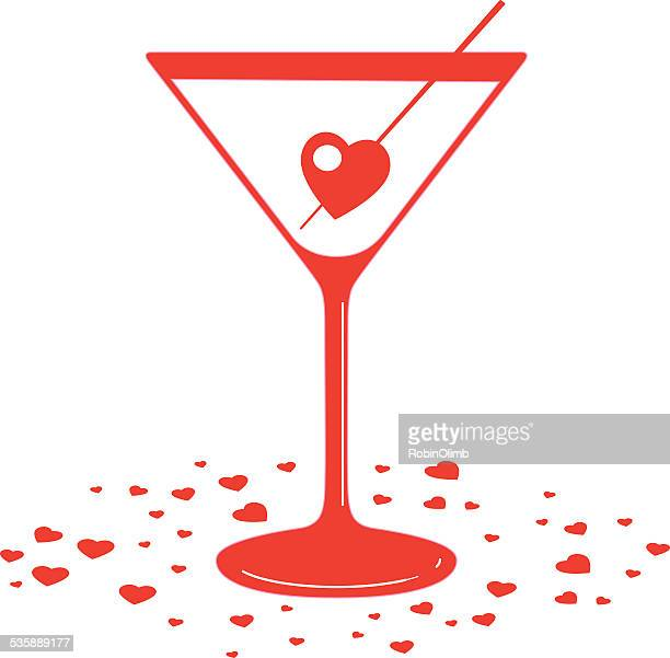 martini valentine - martini stock illustrations
