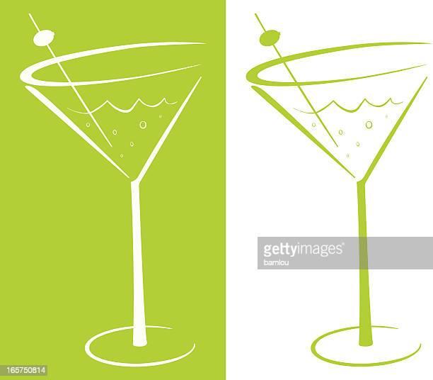 martini - vodka drink stock illustrations, clip art, cartoons, & icons