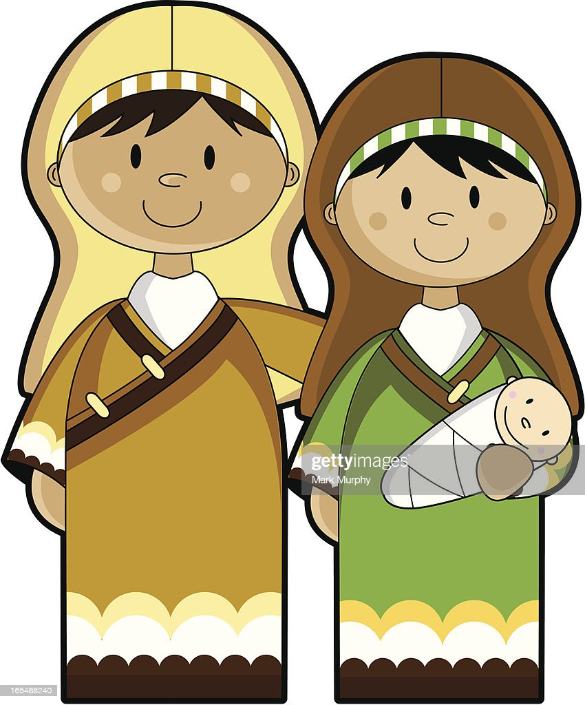 Mary Joseph And Baby Jesus High Res Vector Graphic Getty Images