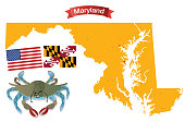 Maryland and Blue crab