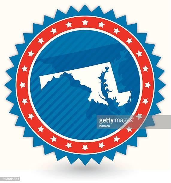 ilustraciones, imágenes clip art, dibujos animados e iconos de stock de tarjeta de maryland - maryland us state