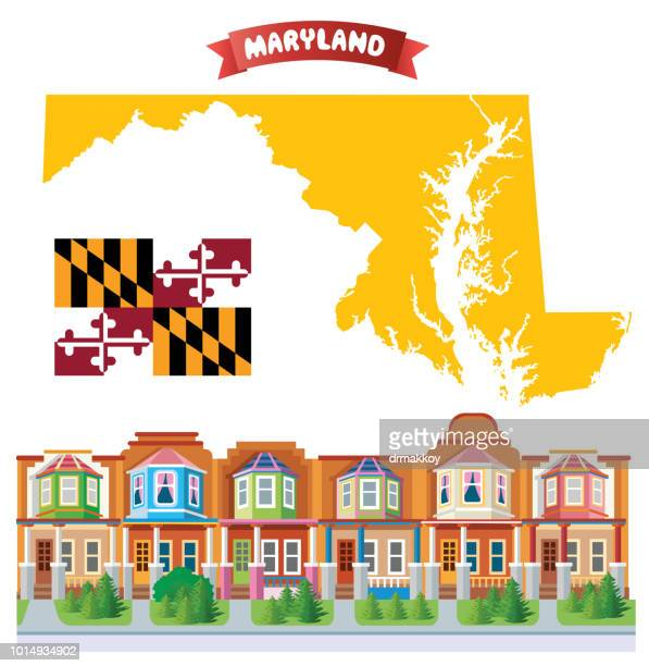 maryland, charles village - chesapeake bay stock illustrations, clip art, cartoons, & icons