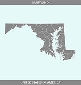 Maryland counties map USA
