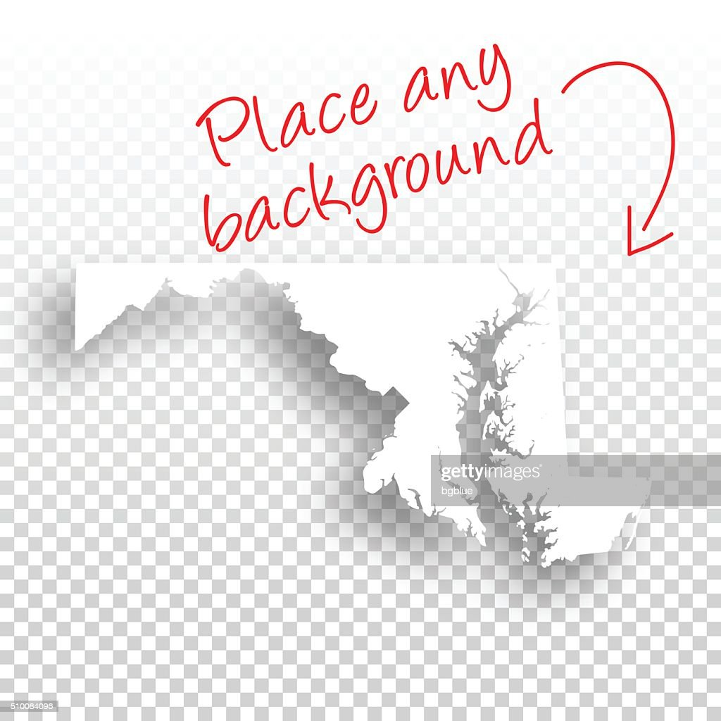 Maryland Map For Design Blank Background Vector Art Getty Images