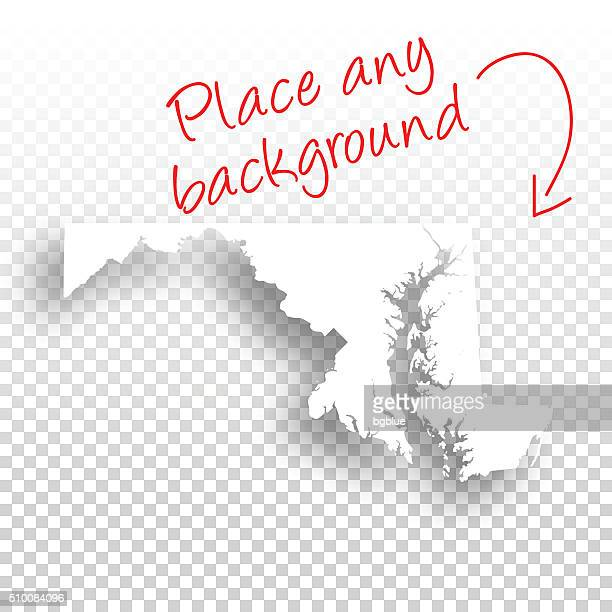 maryland map for design - blank background - maryland stock illustrations, clip art, cartoons, & icons