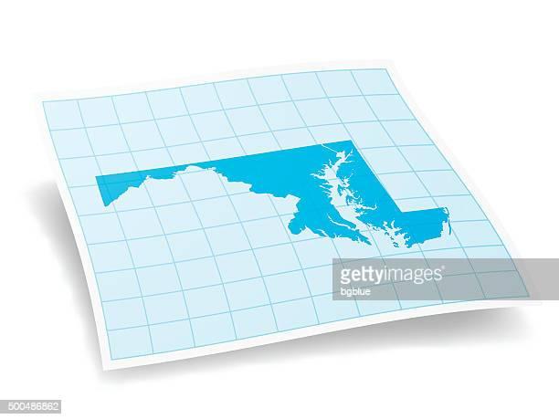 maryland map isolated on white background - baltimore maryland stock illustrations, clip art, cartoons, & icons
