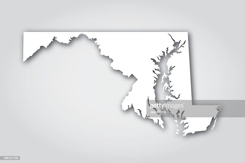 Maryland Silhouette White : stock illustration