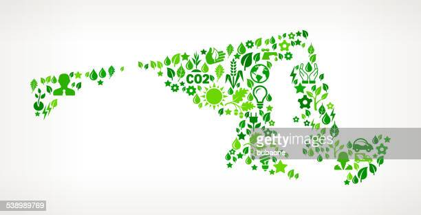 maryland state environmental conservation and nature interface icon pattern - maryland us state stock illustrations, clip art, cartoons, & icons