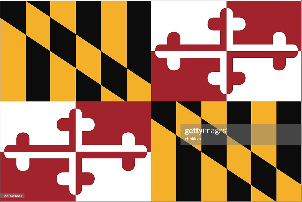 Maryland State Flag : stock illustration