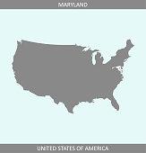 Maryland USA map