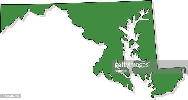 ilustraciones, imágenes clip art, dibujos animados e iconos de stock de maryland - maryland us state