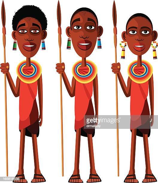 ilustraciones, imágenes clip art, dibujos animados e iconos de stock de masai - masai