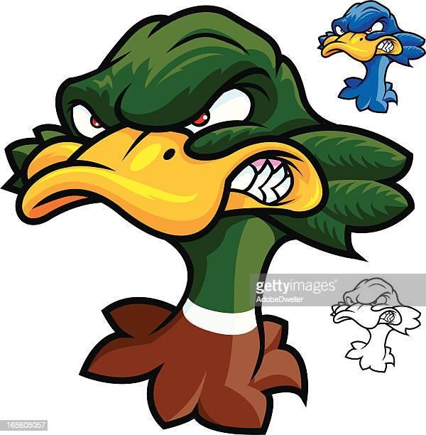 mascot duck - duck stock illustrations, clip art, cartoons, & icons