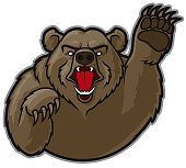Mascot Grizzly Bear