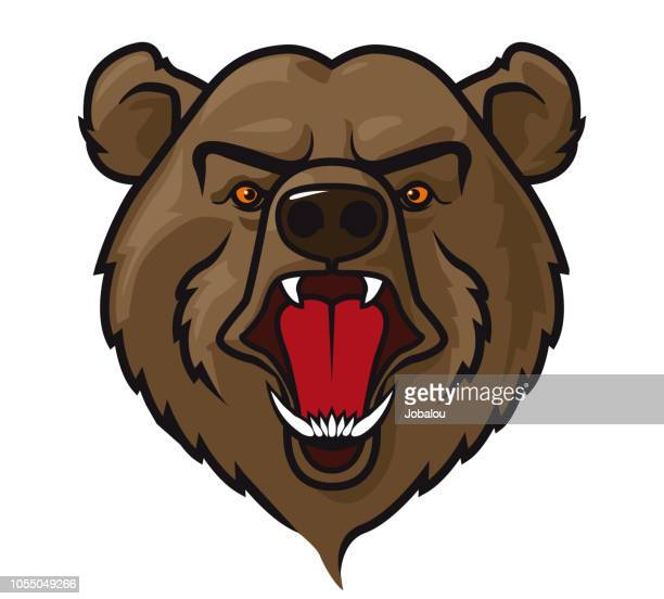 Mascot Head Grizzly Bear