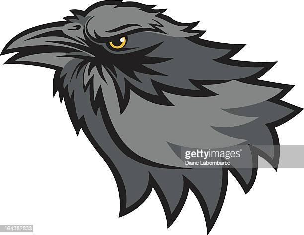 mascot style raven - crow bird stock illustrations