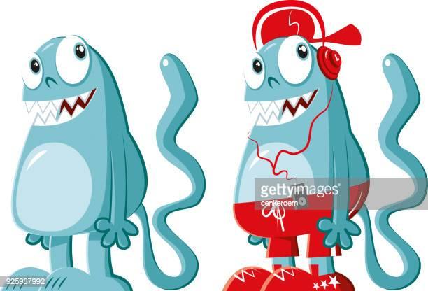 mascot - genetic mutation stock illustrations
