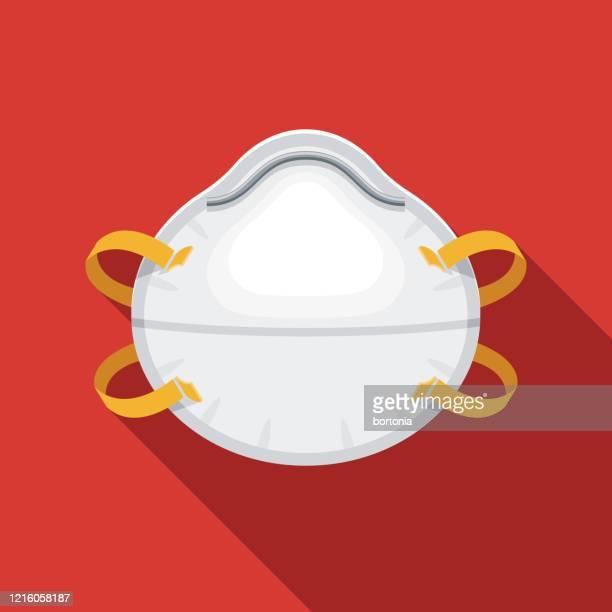 n95 mask coronavirus covid-19 icon - n95 respirator mask stock illustrations