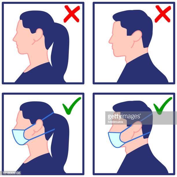 maske coronavirus - mundschutz stock-grafiken, -clipart, -cartoons und -symbole