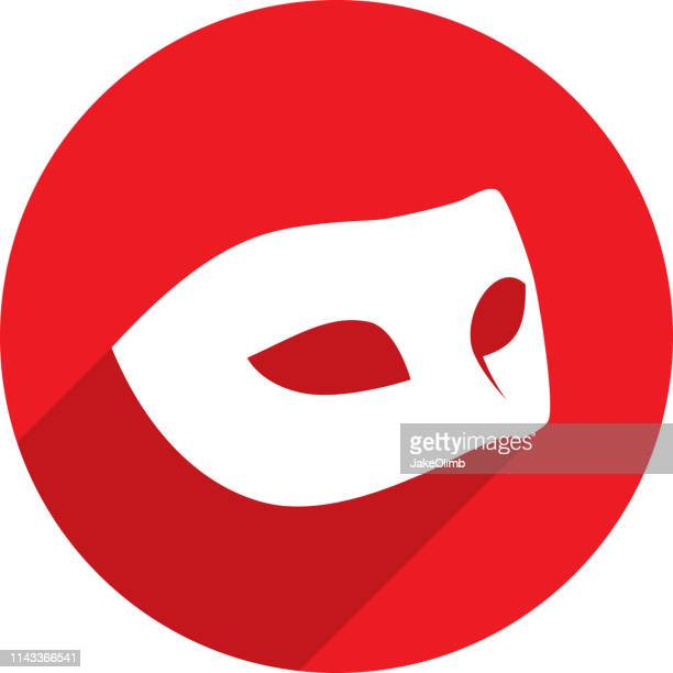 mask icon silhouette - mask disguise stock illustrations