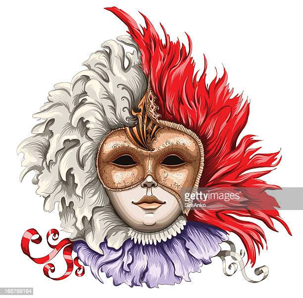 mask - period costume stock illustrations