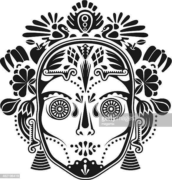 mask. - aztec stock illustrations