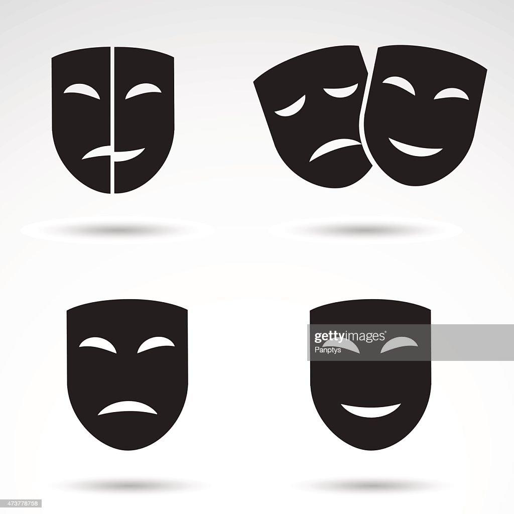 Masks icon set.