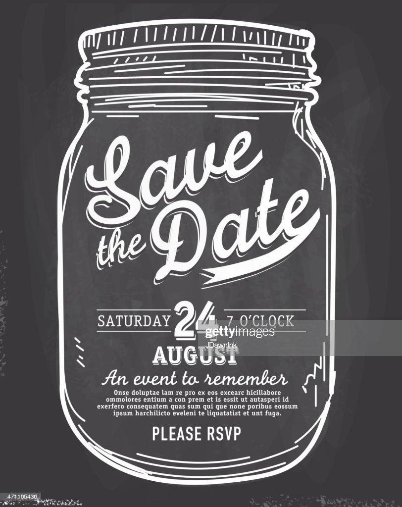 mason jar save the date