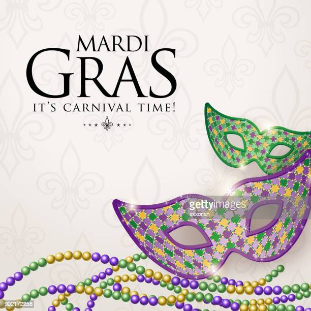 masquerade carnival time - school carnival stock illustrations, clip art, cartoons, & icons