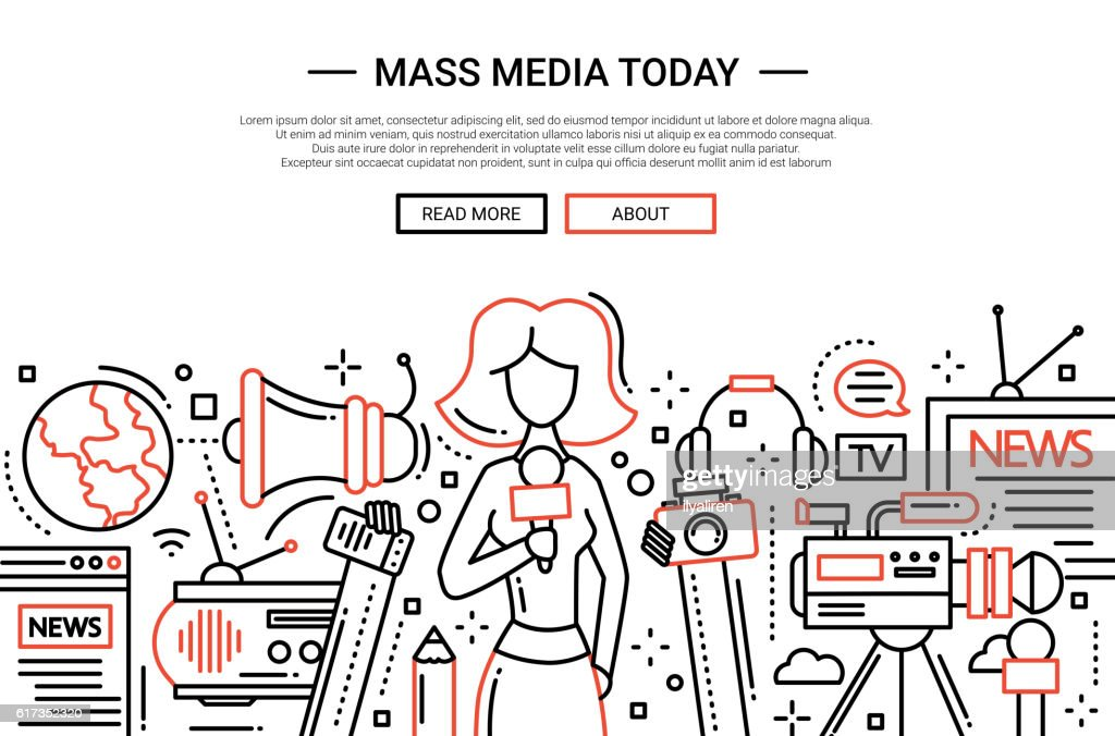 Mass Media Today - line design website header