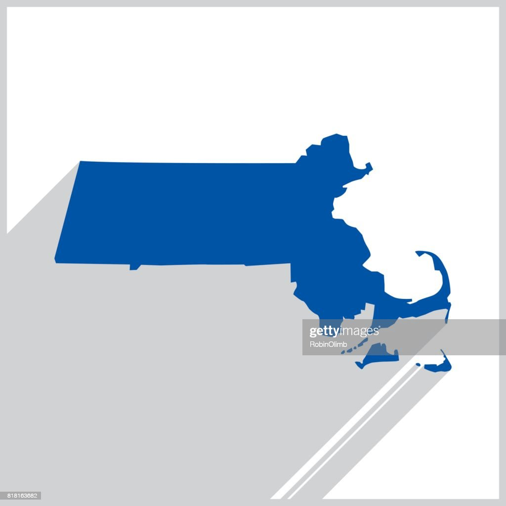 Massachusetts Blue map icon
