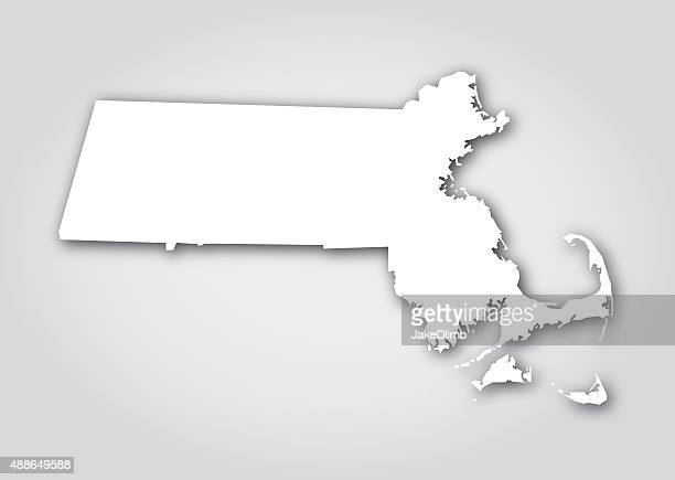 Massachusetts Silhouette White